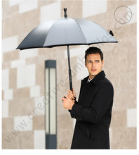 Detachable unbreakable self-defense multi-use alloy  fiberglass anti-skidding 5 times black coating anti-UV crutch umbrellas