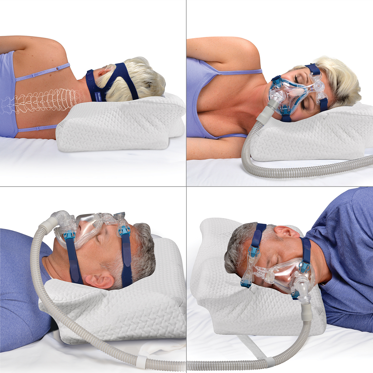 Image 2 - CPAP PillowMemory Foam Neck PillowMassage Ergonomic Anti snoring Sleeping Pillow Aid Bedding Supplies with Pillowcase-in Sleep & Snoring from Beauty & Health