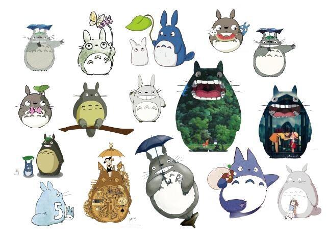 Waterproof Temporary Fake Tattoo Stickers Cute Totoro Cartoon Design Kids Child Body Art Make Up Tools