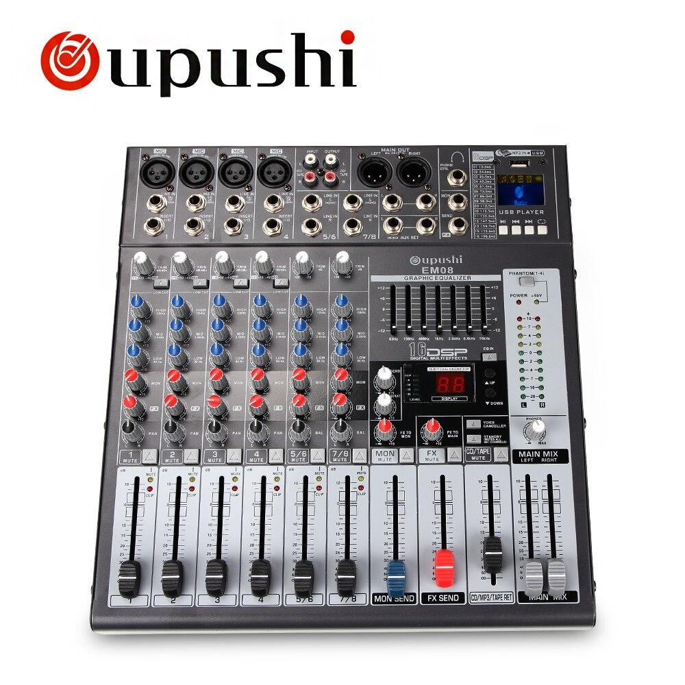 Kit Digital Echo Mixer : oupushi professional 8 channel karaoke digital echo mixer usb ktv amplifier eq club mixer for ~ Russianpoet.info Haus und Dekorationen