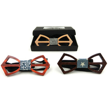 GUSLESON Hot Fashion mens wooden bow tie Accessory wedding Event hardwood Wood Bow Tie For Men Pajaritas Neck Ties Gravata