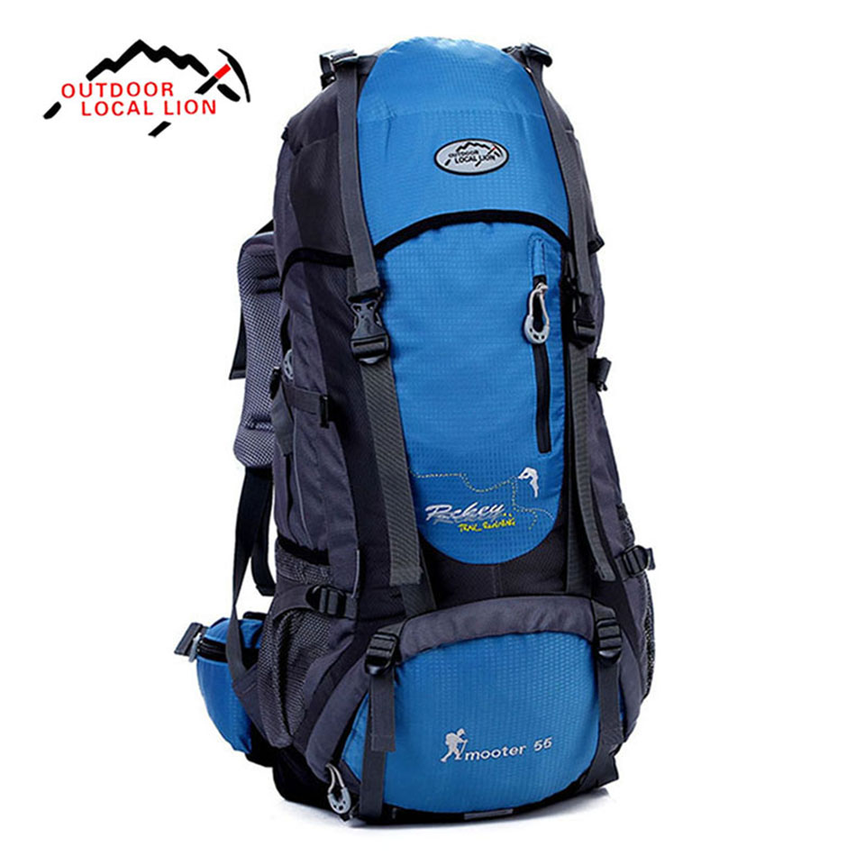 Outdoor Sport Bag LOCAL LION 55L Large Capacity Mountaineering Bag Multi-functional Waterproof Hiking Camping Travel Backpack