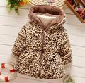 2016 baby warm coat fashion autumn winter outerwear winter jacket baby girls leopard print faux fur Parkas