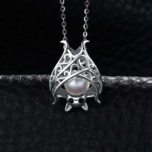 Cultured Pearl Bat Necklace