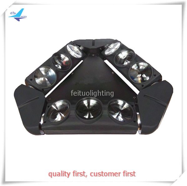 free shipping 2pcs/lot Stage DJ 9X12W Lyre Beam Spider Moving Head Light LED RGBW 4IN1 Triangle Show DMX Clay Paky Wash Lighting