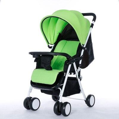 Lightweight portable font b stroller b font can sit lie folding four wheel baby cart bb