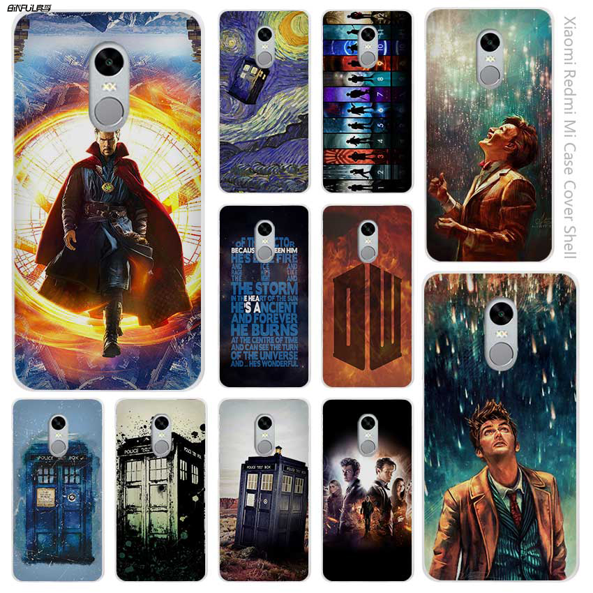 BiNFUL Hot sale Doctor Who Clear Cover Case Coque for Xiaomi Redmi Mi Note 3 3s 4 4A 4X 5 5S 5C 6 Pro ...