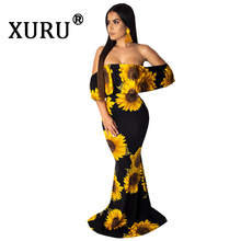 XURU summer hot digital print dress sexy word collar tube top fashion womens