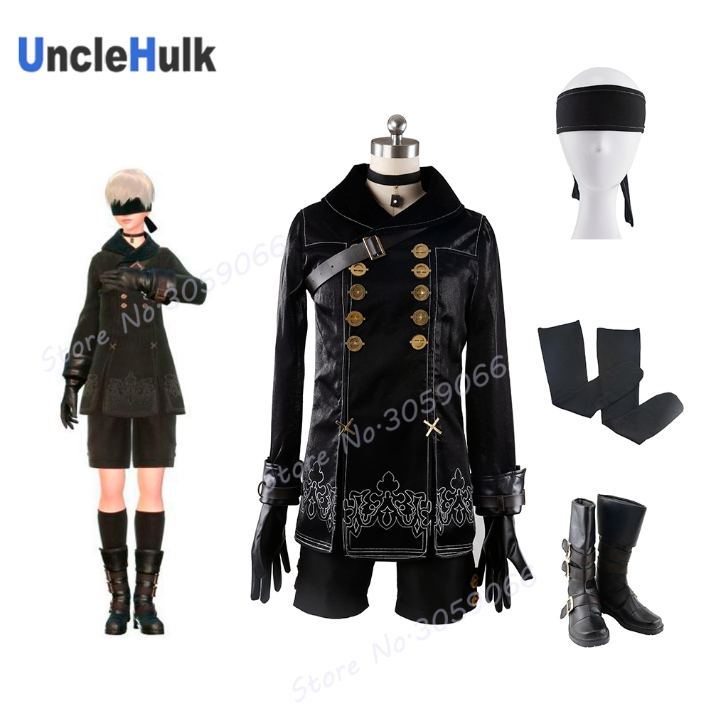 2017 Game NieRAutomata YoRHa No. 9 Type S Costume Adult Men Halloween Carnival Cosplay Costume  | UncleHulk