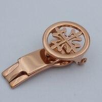 MAIKES Способа Высокого Качества Часы Кнопку Смотреть группы Застежка Пряжка 18 мм 20 мм Розового Золота Для Patek
