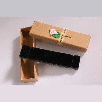 20pcs Retro Kraft Paper Jewelry Box Creative Applique Necklace Pendant Gift Box
