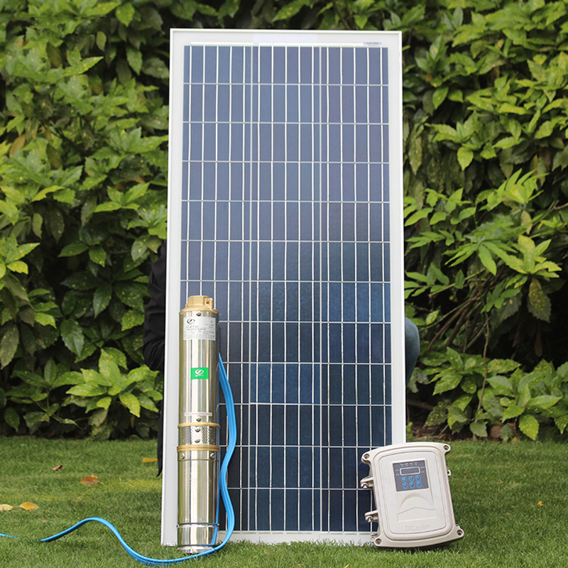 Solar Deep Well Pump123m Brushless High-speed Solar Deep Water Pump With Permanent Magnet Synchronous Motor Solar Water Pump Kit