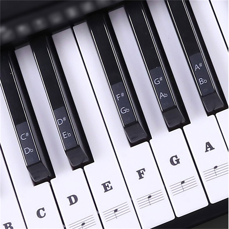 54 61 88 Keys Electronic Piano Keyboard Sound Name Stickers Key Sticker Piano Stave Music Decal Label Note Sticker sticker