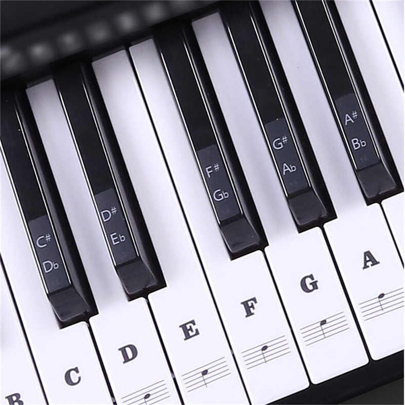 54 61 88 Keys Electronic Piano Keyboard Sound Name Stickers