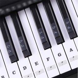 54 61 88 touches électronique Piano clavier son nom autocollants clé autocollant Piano Stave musique décalcomanie étiquette Note autocollant