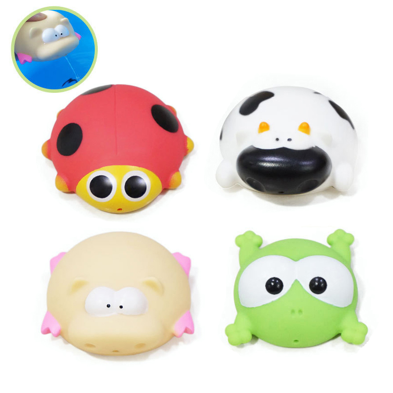 Big-size-4pcsset-Kawaii-baby-bath-toys-High-quality-Vinyl-Educational-Rattle-toy-for-0-4-years-Newborn-baby-Water-spray-toys-2
