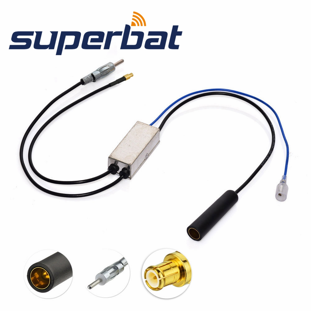 Superbat FM/AM To FM/AM/DAB Car Radio Aerial Converter/Splitter With MCX Connector For Clarity CDAB7-AUTO