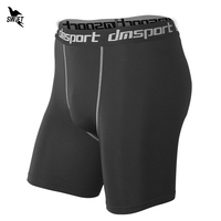 Athletic Men S Sports Tight Compression Shorts 2017 Gym Fitness Trunks Skinny Running Breathable Boxers Quick