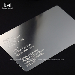 metal business card personalized business card stainless business card personalized card steel business card