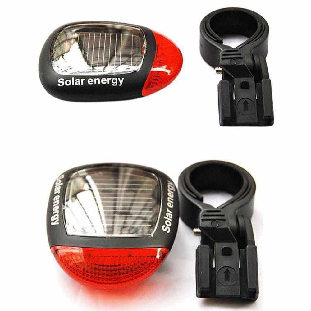 Luz solar powered bicicleta luz led traseiro piscando luz da cauda para bicicleta ciclismo lâmpada de aviso segurança piscando luz