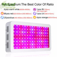 Led Grow Plant Lamp Double Chips Full Spectrum 1200W 1500W 1800W 410 730nm Uv Light