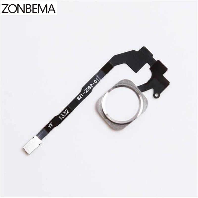 زر ZONBEMA المنزلي مع مجموعة شريط الكابلات المرنة لجزء استبدال 5s آيفون