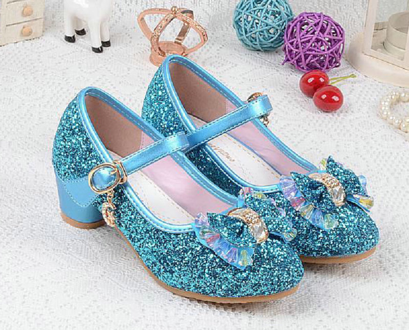 Nieuwe luxe sandalen kinderen meisjes leren bowtie party schoenen - Kinderschoenen - Foto 2