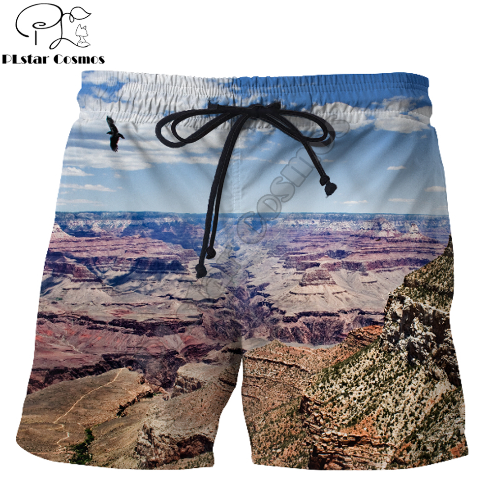 2019 New summer vibes <font><b>Shorts</b></font> <font><b>USA</b></font> The Grand Canyon Amazing natural scenery 3D Printed Male/Female streetwear Casual <font><b>Shorts</b></font> image