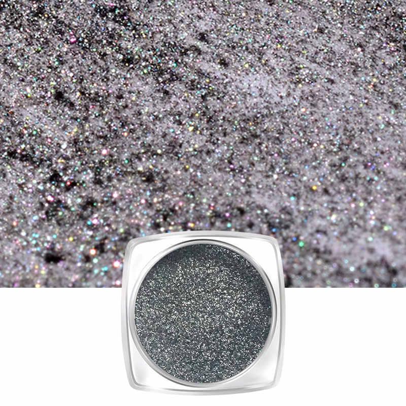 Vrenmol 1 kutu Siyah Ayna Tırnak Tozu Göz Kamaştırıcı DIY Krom Pigment Tırnak Glitter UV Jel Oje için Parlak Tırnak sanat Dekorasyon