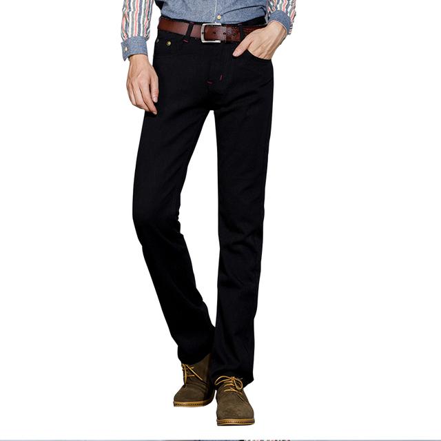2016 Venta Caliente Diseñador Buena Suave de Algodón para hombres Jeans Versión libre recta Todas Correspondan Y Toda la Temporada Adecuada Denim Jeans Para Hombres