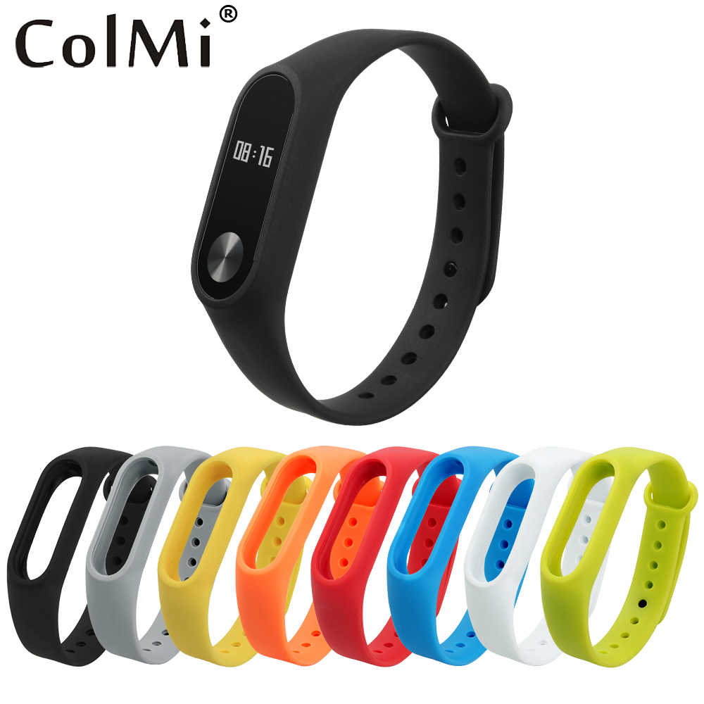 ColMi Colorful Silicone Wrist Strap Bracelet Belt For Original Miband 2 Xiaomi Mi band 2 Wristbands Brim