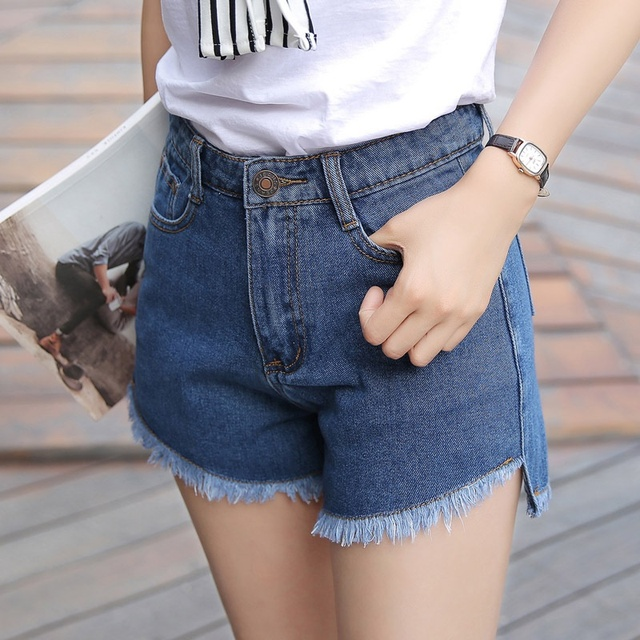 Denim shorts for women denim shorts female fashion short femme sexy 2016 fashion women summer jeans shorts denim blue AA1336
