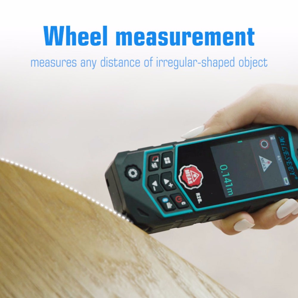 Chaude Professionnel Bluetooth Laser Télémètre R2/R2B 40/60/80/100 m Avec Diffusion Audio Roue mesure Laser Mètre de Distance