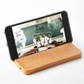 Soporte del teléfono de escritorio para el iphone: madera portátil smartphone holder soporte universal soporte compatible con todos los teléfonos móviles y ipad