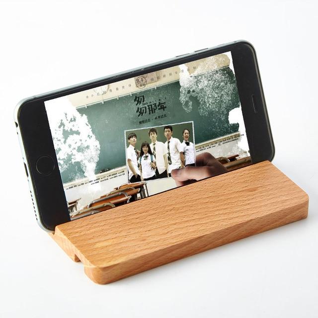 telephone de bureau stand pour iphone portable bois smartphone support universel stand compatible avec tous