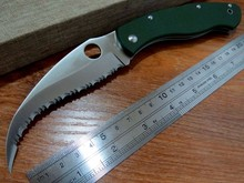 5PCS/LOT Hot sale Efeng C12 Spyder Knife 9Cr Blade G10 Handle Camping Hunting  Pocket Tactical Knives Outdoors Using Tool