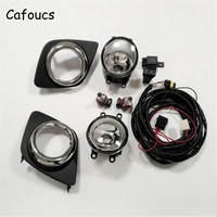 Cafoucs Car Fog Light Assembly For Toyota Rav4 2009 2012 Fog Lamp With Decoration Cover Switch Harness Relay