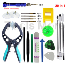20Pcs LCD Opening Pliers Spudger Pry Tool Screwdriver Set for iPhone 4S 5 5S 6 6S CellPhone Tablet Disassemble Tools Set