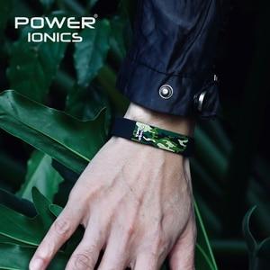 Image 4 - Power Ionics Titanium Ion F.I.R 3D Camo Bracelet Balance Wristband Energy PT048