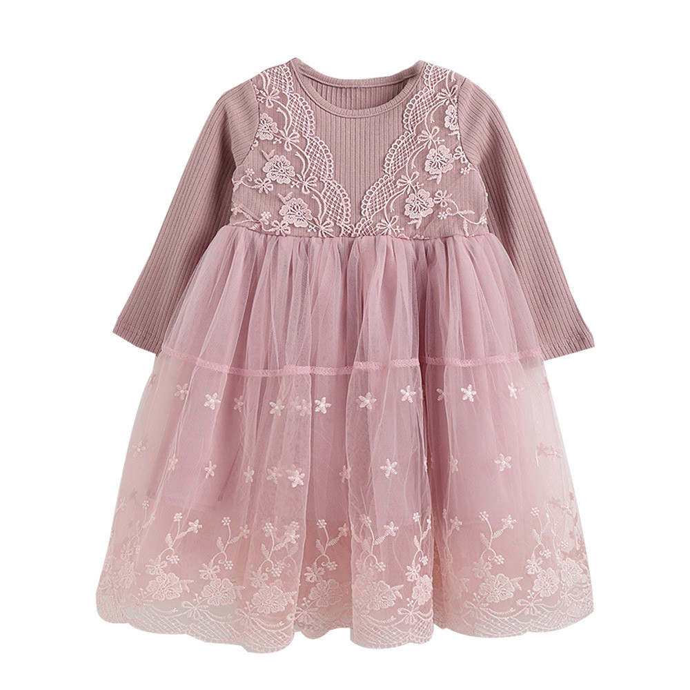 Toddler Baby Girls Lace Princess Tulle Party Pageant Flower Dresses Clothes