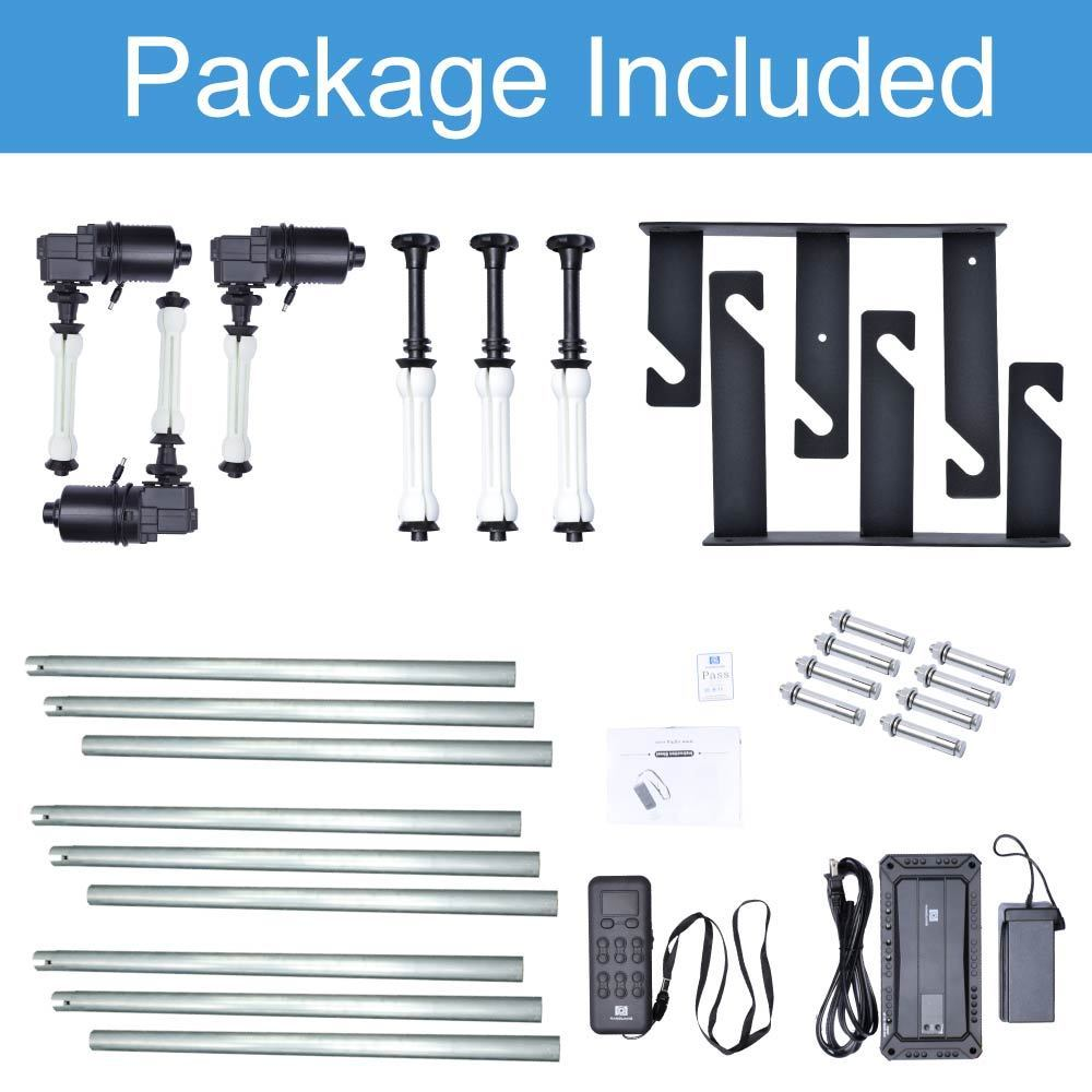 Fotoconic 4 Roller Motorized Electric Wall Ceiling Mount Background Support System with Remote