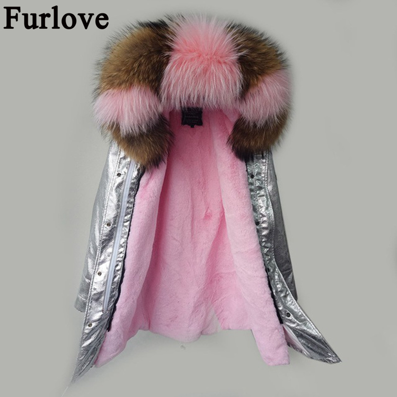 Parka women winter 2017 jacket coat women real fur coat parkas natural raccoon fur collar hooded warm soft faux fur liner coats red stripe fur inside male coats winter wear keen warm elegant real raccoon fur collar cashmere fur parka