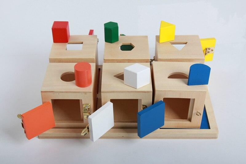 Nouveau bébé en bois jouets Montessori séparation sagesse lockbox début jouets éducatifs bébé cadeaux