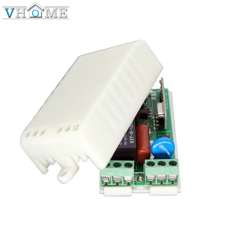 Vhome AC 220V 1CH RF 433 Mhz Wireless Remote Control Switch Learning Code 1Relay Lamp Light Controller 433.92Mhz superheterodyne dc12v rf wireless switch wireless remote control system1transmitter 6receiver10a 1ch toggle momentary latched learning code