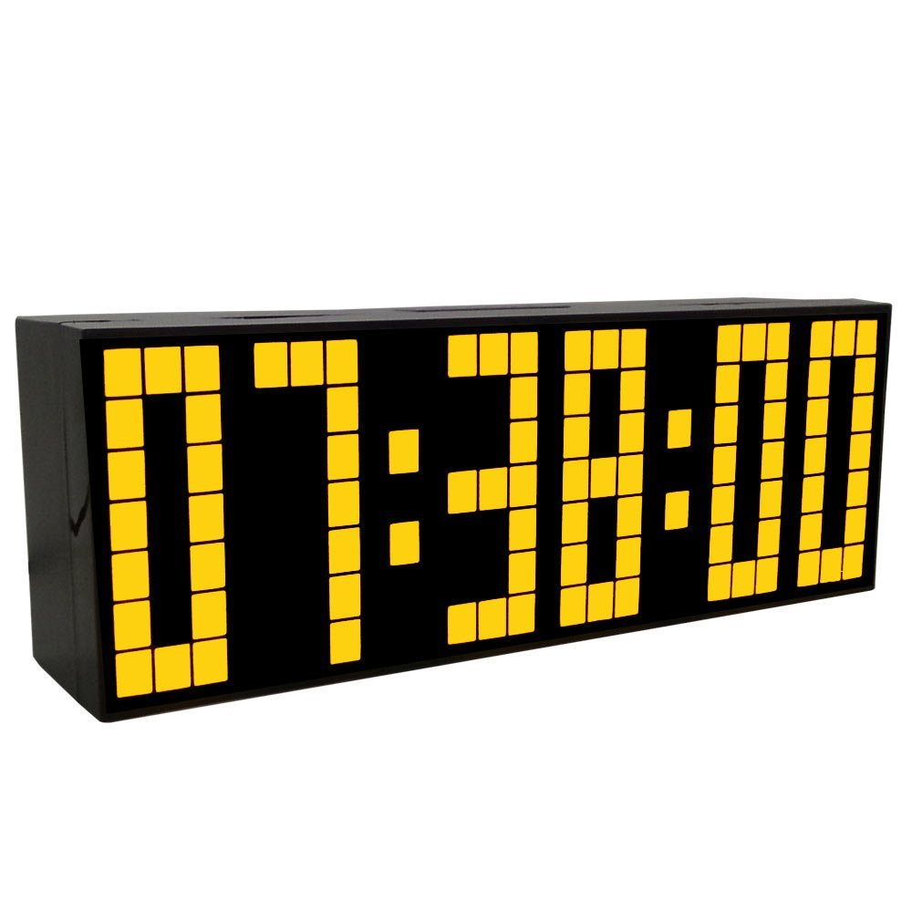 Nagy számjegy LED kijelző Többfunkciós hálószoba ébresztőóra asztali óra asztali óra puha éjszakai fény