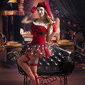 Women Sexy Christmas Costume Red Corset Top Santa Claus Cosplay Outfit Erotic Holloween Costumes for Women 9757