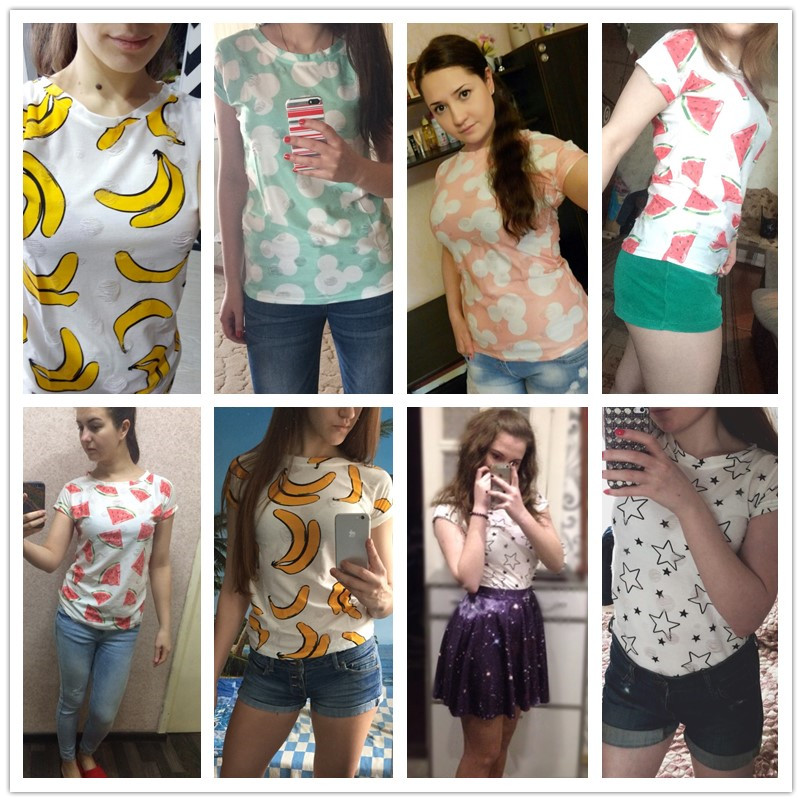 HTB19F6nQFXXXXcfXFXXq6xXFXXXF - T shirt Ladies short sleeve star print vintage casual T-shirt