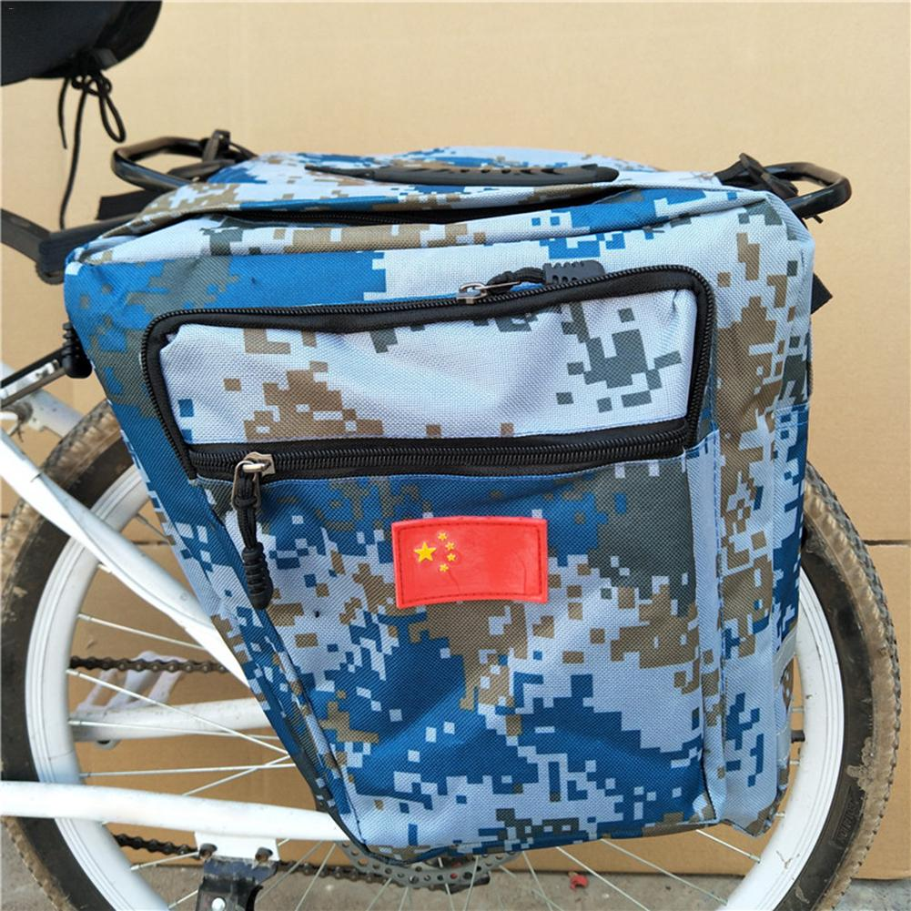 Enlarged Mountain Bike Camo Saddle Bag Camouflag 35l MTB Bike Rack Saddle Bags Road Bicycle Pannier Rear Seat Trunk Bag topeak dynawedge bike seatpost bag strap mount saddle bicycle rear bag ultralight bike repair tools pannier bag tc2293b
