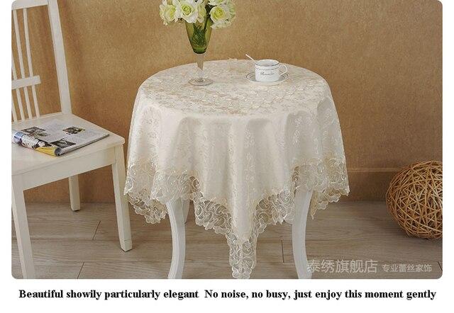 Acheter 1 pcs lot salon nappe dentelle - Nappe table de salon ...