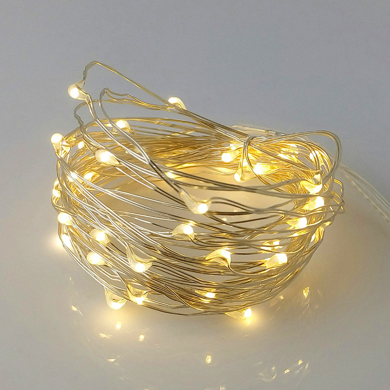 10M solenergi LED String Light Vanntett LED Kobber Wire String - Ferie belysning - Bilde 4